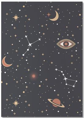 Mystical Galaxy Notepad