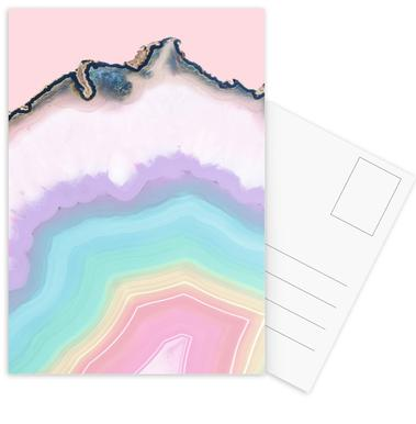 Rainbow Agate Postcard Set