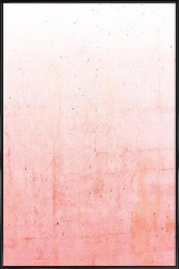 Pink Ombre - Poster in Standard Frame