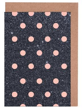 Pink Polka Dots on Shiny Background