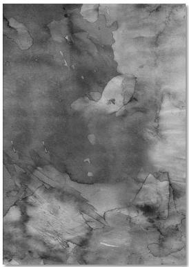 Dark Watercolor -Notizblock