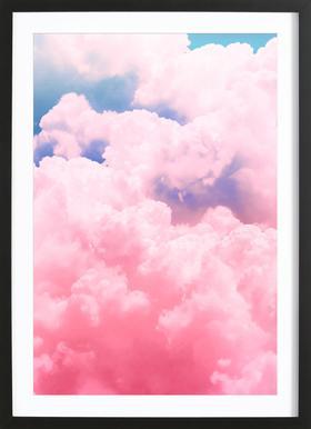 Candy Sky affiche sous cadre en bois