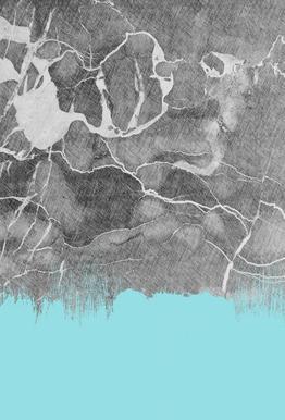 Crayon Marble and Sea Prints Impression sur alu-Dibond