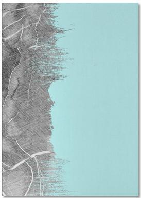 Crayon Marble and Sea Prints carnet de notes