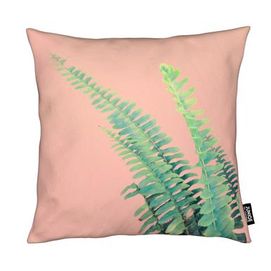 Ferns on Blush Prints coussin