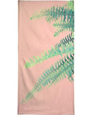Ferns on Blush Prints serviette de bain