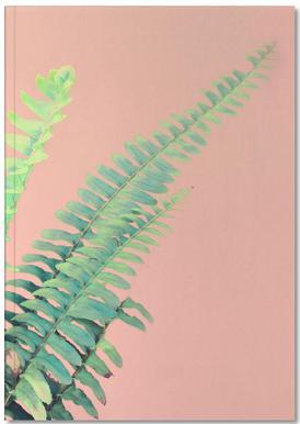 Ferns on Blush Prints carnet de notes