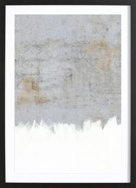 Concrete Style - Poster in Wooden Frame