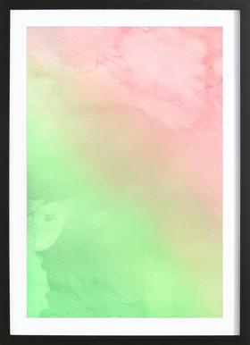 Greenely and Rose Quartz Prints affiche sous cadre en bois