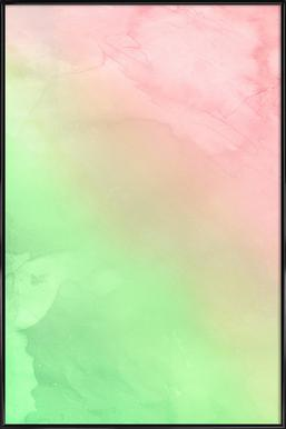 Greenely and Rose Quartz Prints affiche encadrée