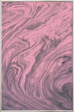 Pink Marbled Texture -Poster im Alurahmen