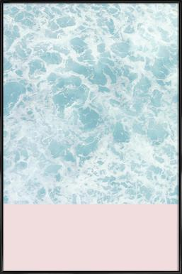 Pink on the Sea Framed Poster