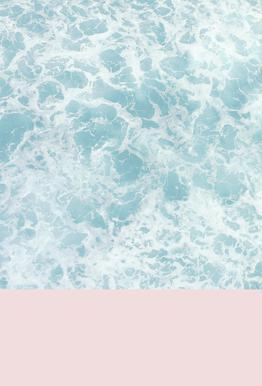 Pink on the Sea tableau en verre