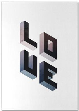 Geometric Love -Notizblock