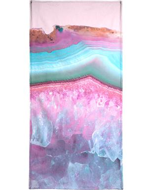 Rose Quartz and Serenity Agate Beach Towel