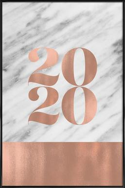 2019 Marble Edition ingelijste poster