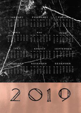 2019 Black Marble Edition Canvas Print