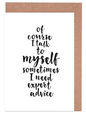 Expert advice Greeting Card Set
