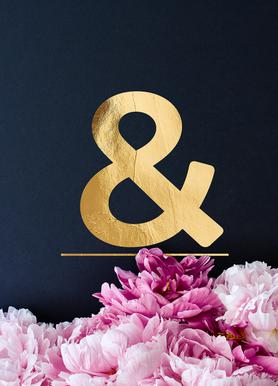 Flower Alphabet & Canvas Print