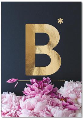 Flower Alphabet B Notepad