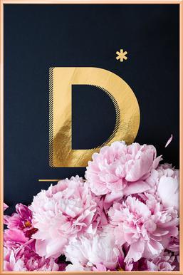 Flower Alphabet D