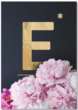 Flower Alphabet E Notebook