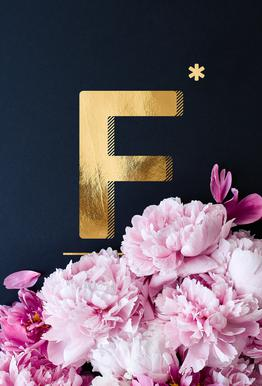 Flower Alphabet F