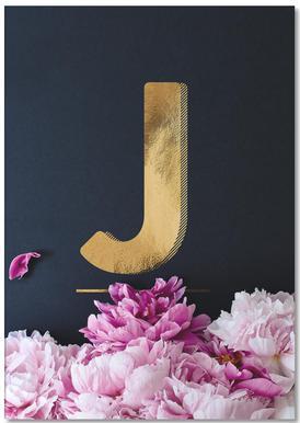 Flower Alphabet J -Notizblock