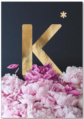 Flower Alphabet K -Notizblock