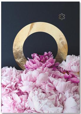 Flower Alphabet O -Notizblock