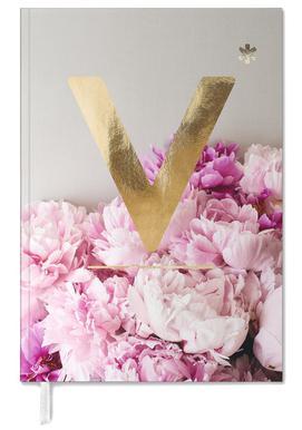 Flower Alphabet V -Terminplaner