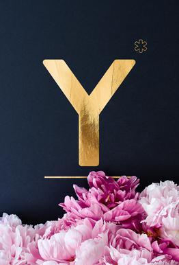 Flower Alphabet Y
