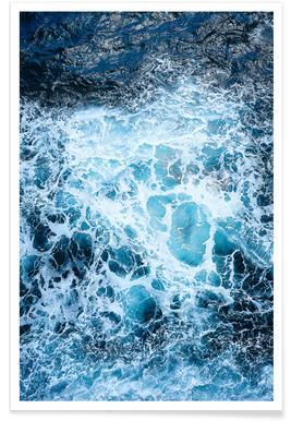Blautöne des Meeres III Poster