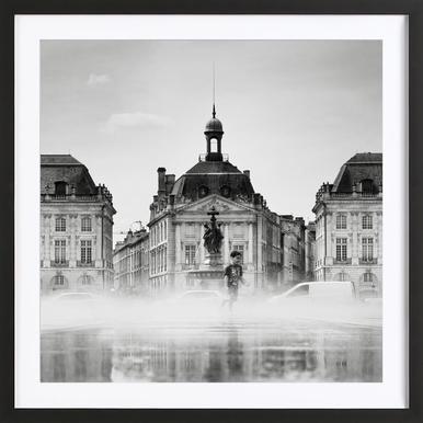 Place de la Bourse - Poster in Wooden Frame