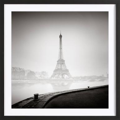 Tour Eiffel - Poster in Wooden Frame