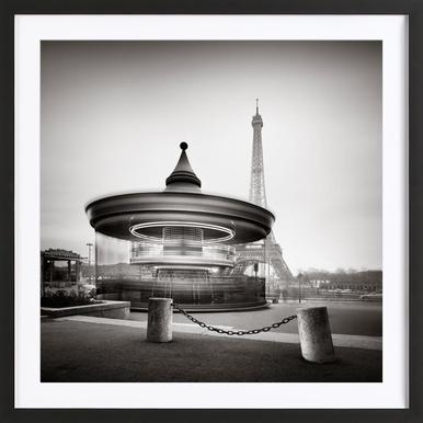 Tour Eiffel - Study 2 - Poster in Wooden Frame