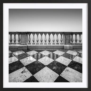 Venezia - Terrazzo - Affiche sous cadre en bois