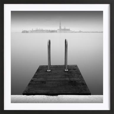 Venezia - The Pool - Poster in Wooden Frame