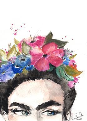 Frida's Look Canvas Print