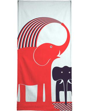 Red Elephant Bath Towel