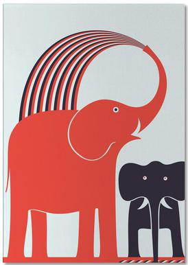 Red Elephant Notepad