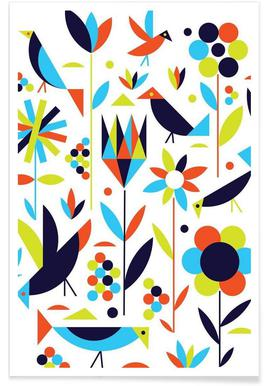 Bird and Flower - Premium Poster