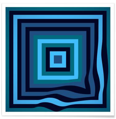 Blue Ripple - Premium Poster
