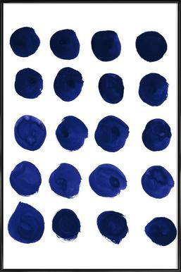 Blue Dots - Poster in Standard Frame