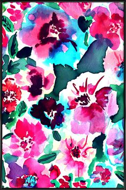 Zoe Floral Pink -Bild mit Kunststoffrahmen