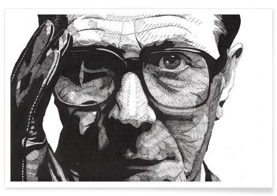 Gary Oldman - potloodtekening poster