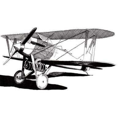 Curtiss CR-1 Navy Racer canvas doek