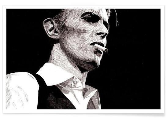 David Bowie - potloodtekening poster
