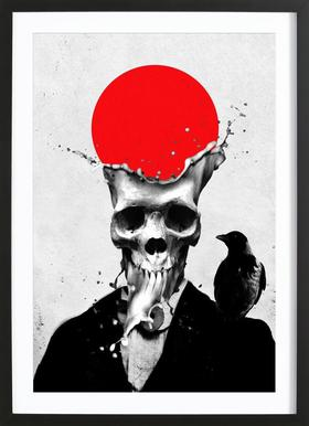 Splash Skull Framed Print