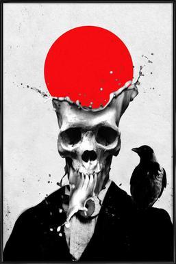 Splash Skull ingelijste poster
